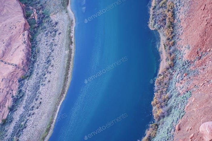 Birds eye view of a river