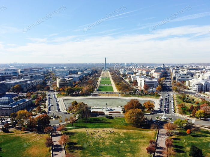 Washington, DC from atop the US Capitol