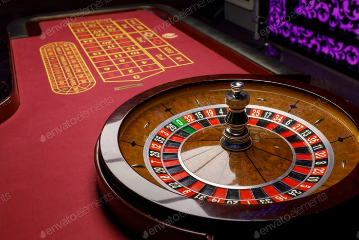 Roulette casino gaming table poker gambling bets