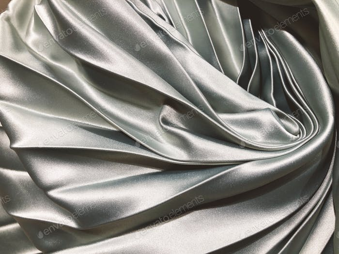 Smooth silky satin fabric