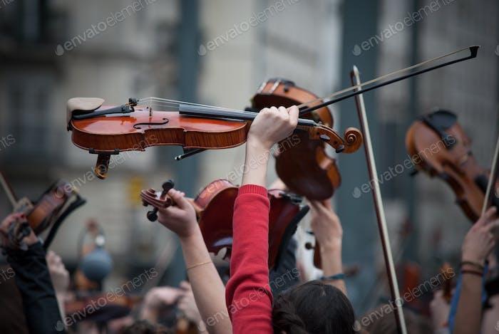Plein Air Musik und Musiker