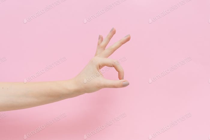 A hand doing the ok sign