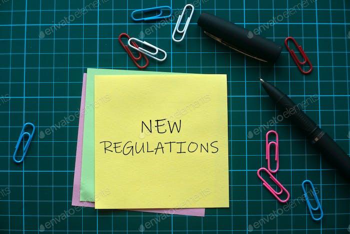 Neue Vorschriften