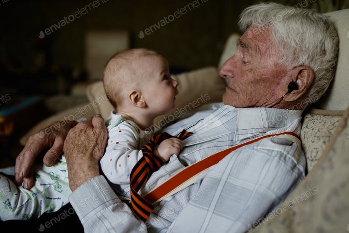 Grandfather and great-grandson