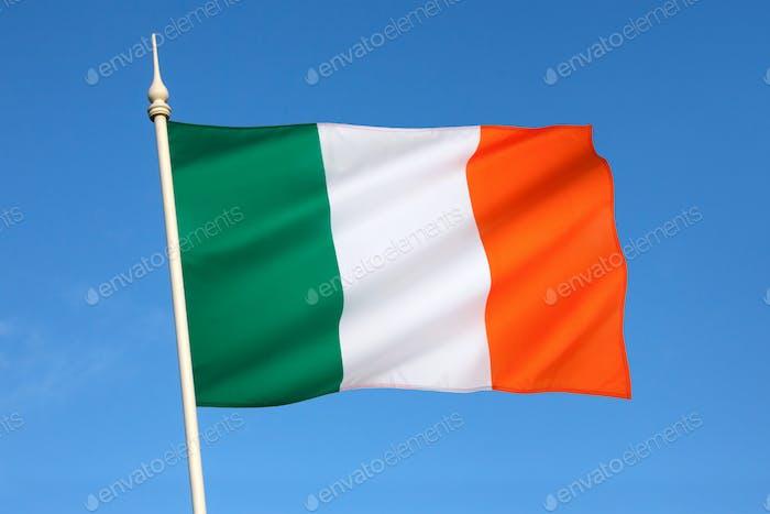 The National flag of Ireland