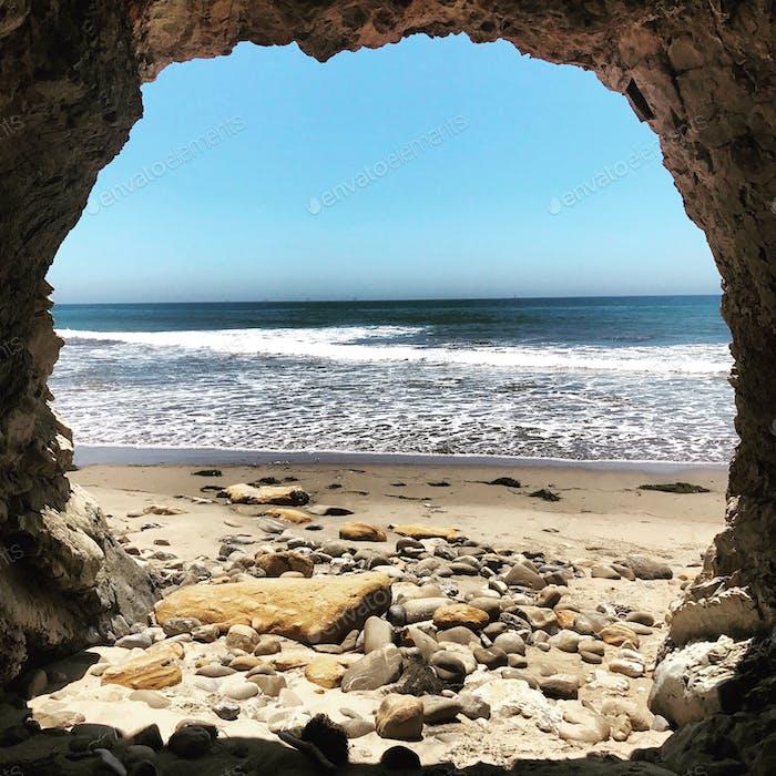 Shoreline Park Cave , Santa Barbara