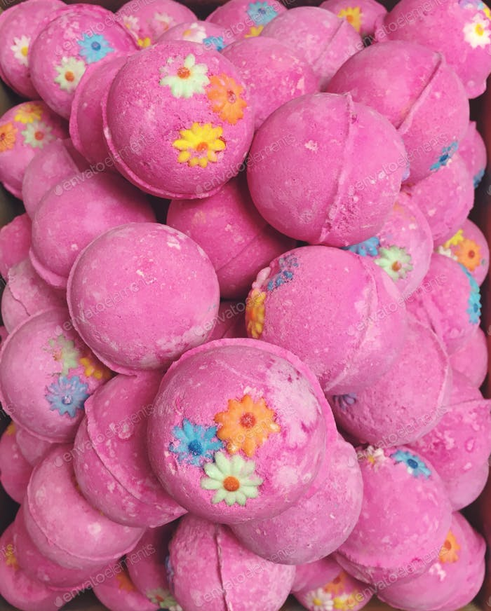 Pink Bath Bombs