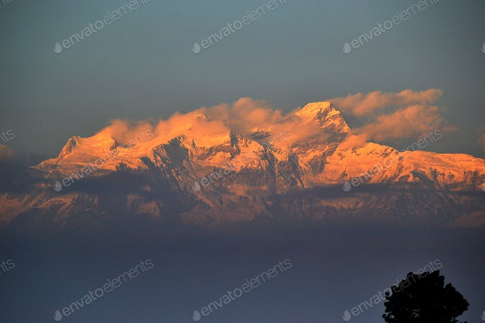 Sunrise on the Himalayas