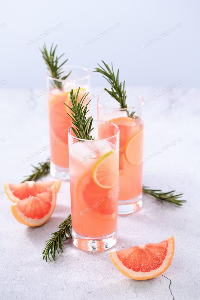 Fresh lime and rosemary in combination with fresh grapefruit juice and tequila