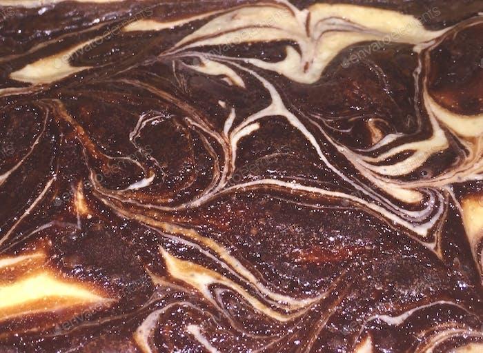 Chocolate-cream cheese brownies