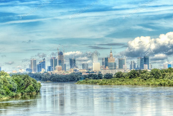 Warszawa, Poland, Polska, view city, tourism in Europe