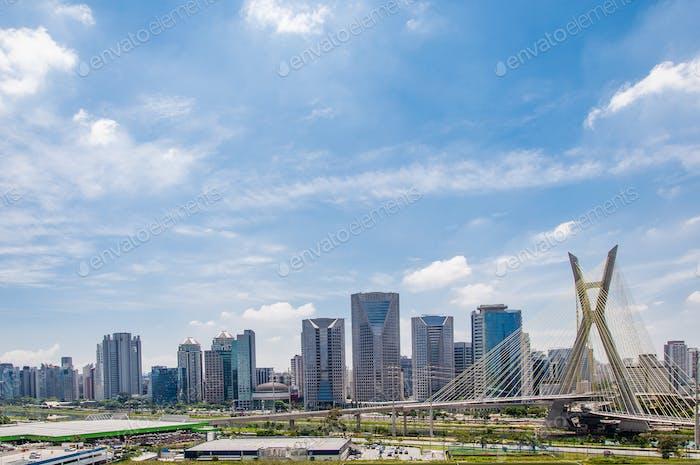cable-stayed bridge at Sao Paulo, Brazil