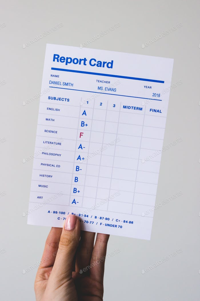 Tarjeta de informe