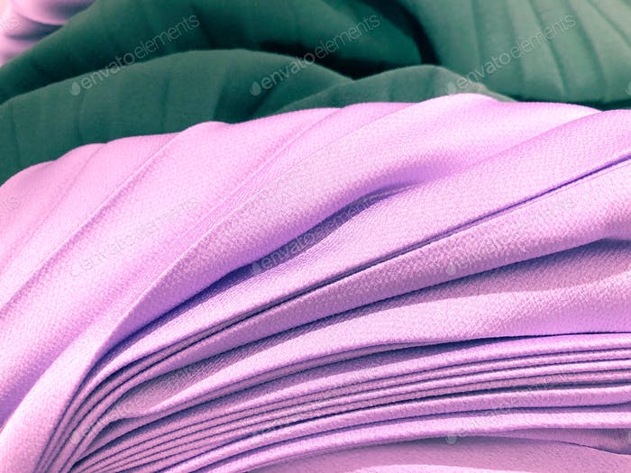 Pile of layered pleated fabric