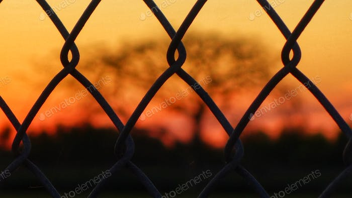 Selective Focus At West Boca Community High School Football Field At Sunset
