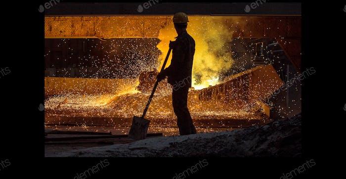 Steel factory.