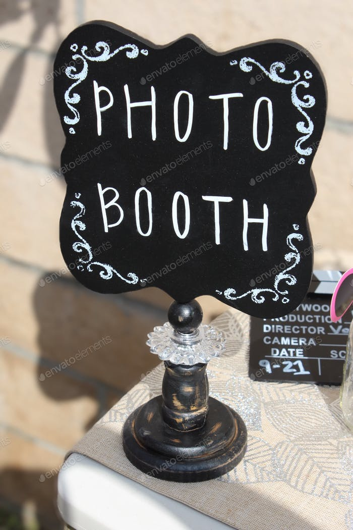 Photo booth sign.