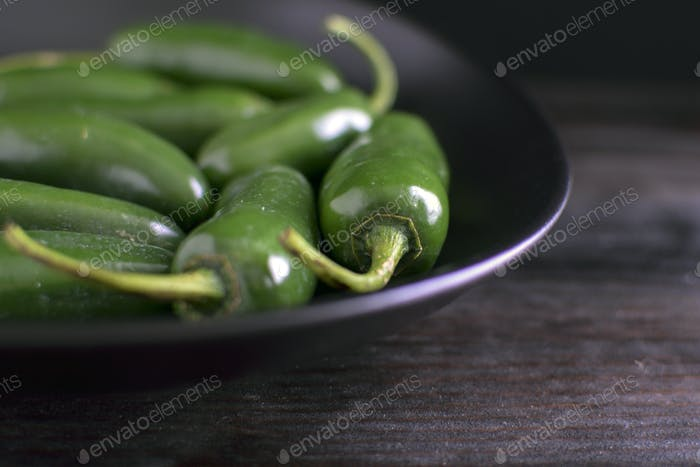 A Bowl of Jalapeño Peppers