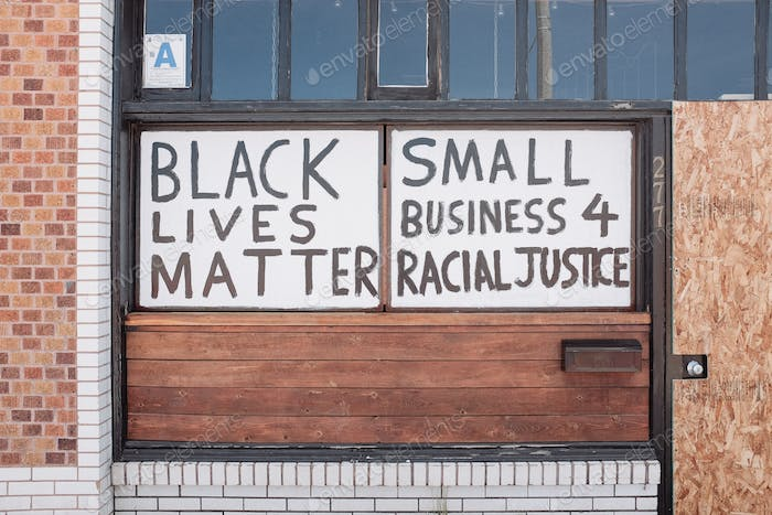 Black lives matter civil rights unrest protest inequality social economic economy protect small