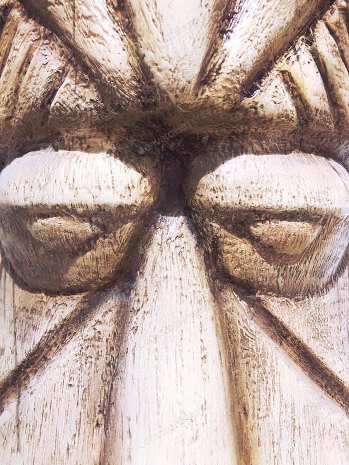 Face sculpture closeup