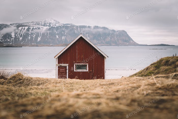 Red cabin.