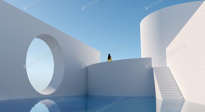 White Building - 3D Illustration