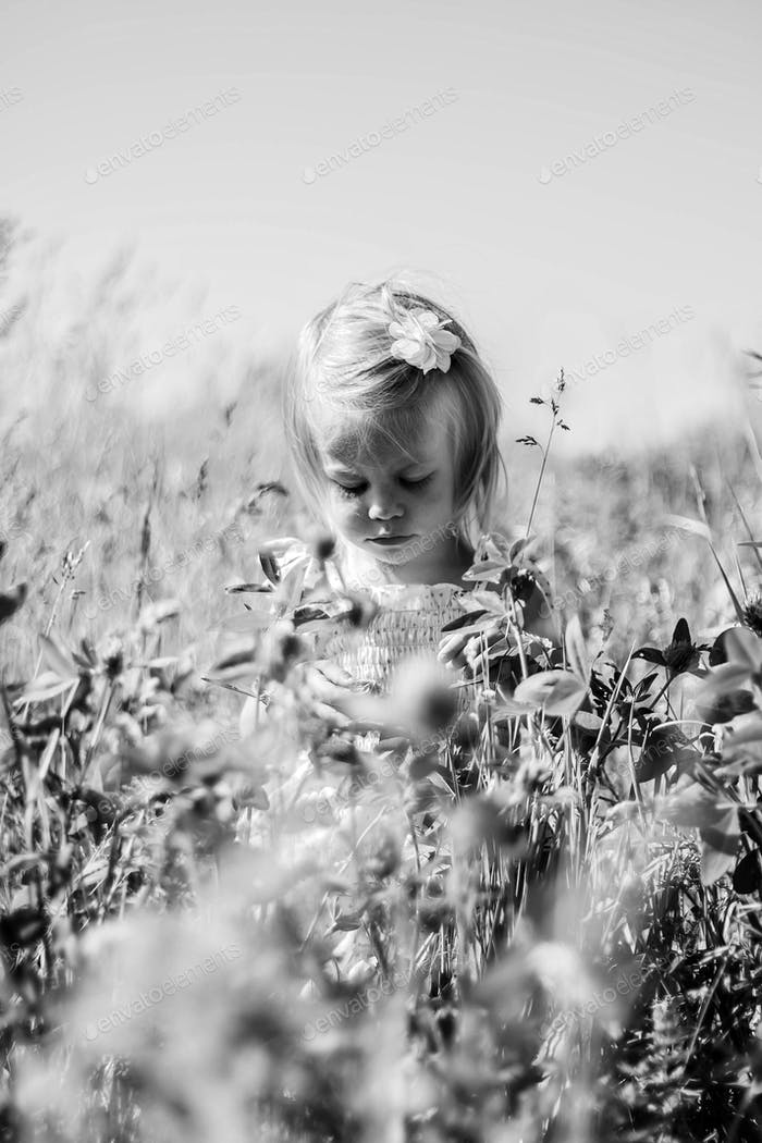 Baby in the weeds.