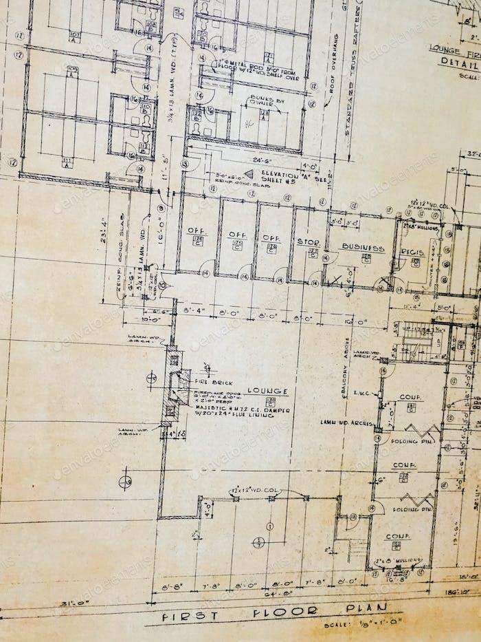 Contractor Building blueprints dimensions plans how to build a house or building plans