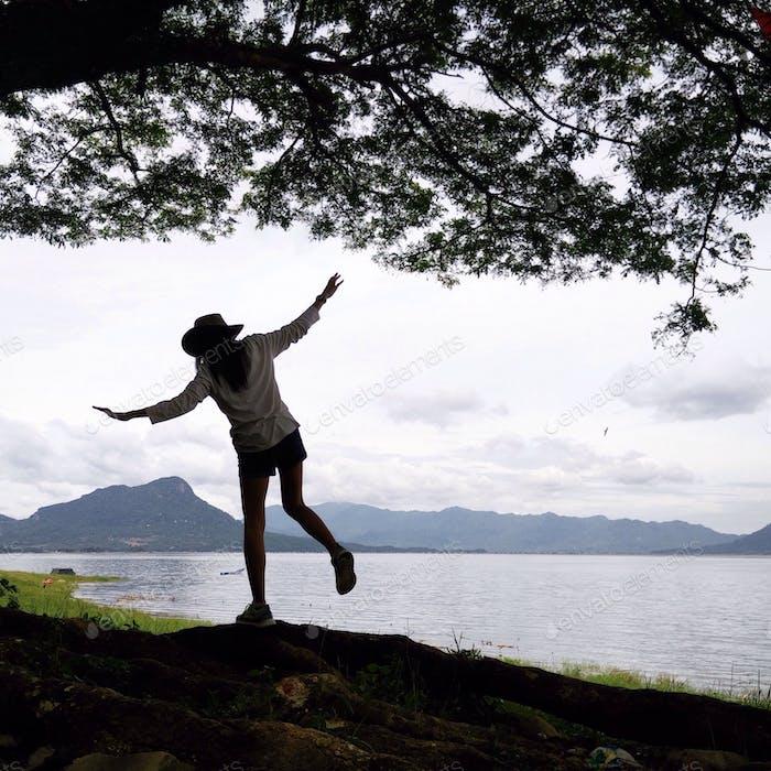 Balancing with nature.. #iphonesia