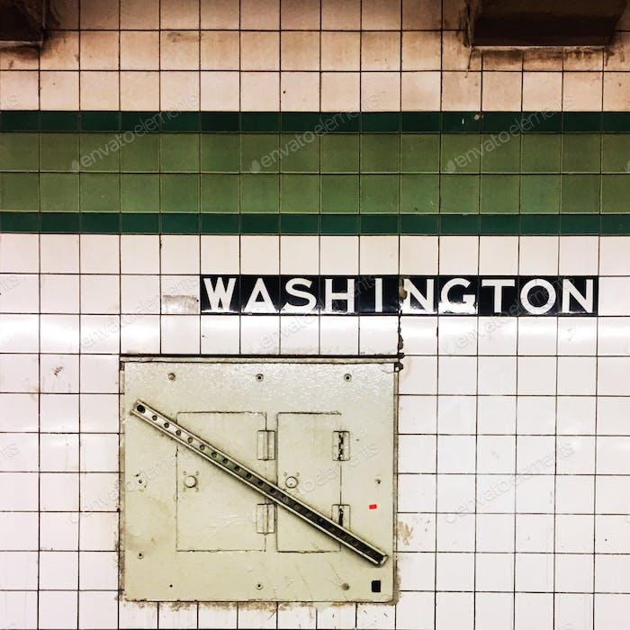 Subway tiles and utility panel