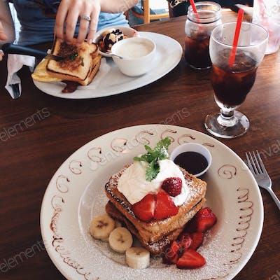 Cafe brunch