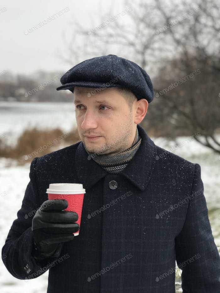 Winter man's portrait