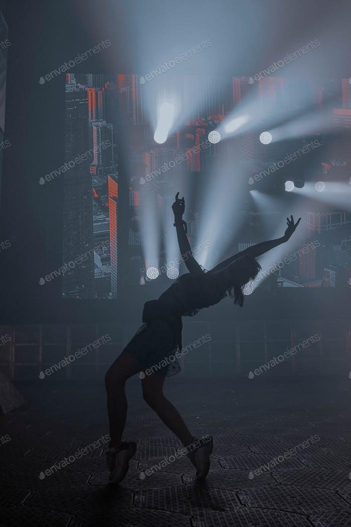 Dancing girl. Night life