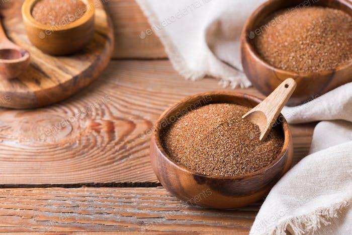 Ancient grain teff popular in Eritrean and Ethiopian cuisine