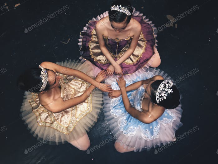 Ballerinas in costume...