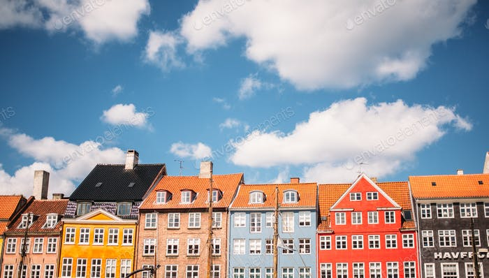 Colorful Copenhagen Narrow Houses
