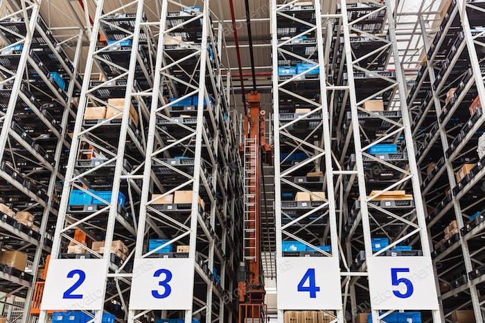 warehouse storage distribution goods industry stock shelf industrial storehouse business depot rack
