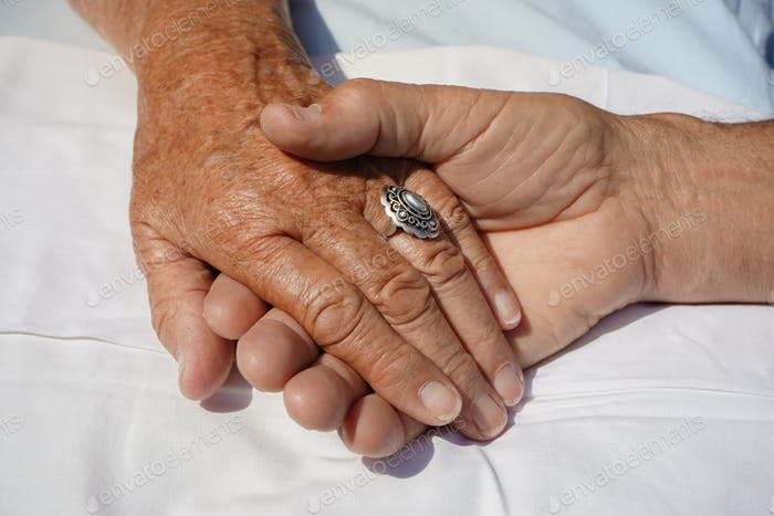 old ladys hand