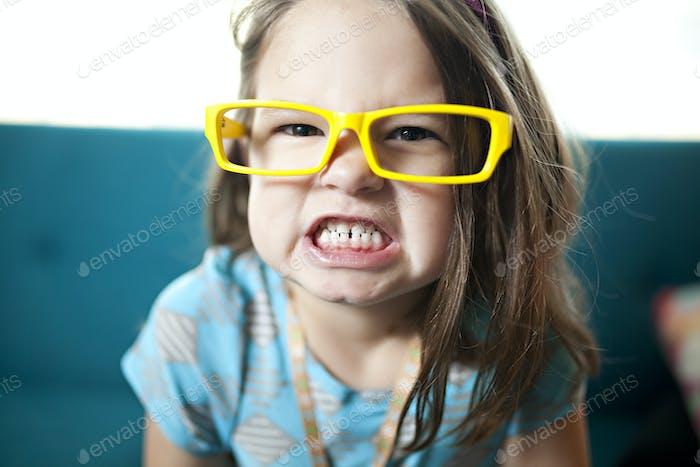 fierce little girl