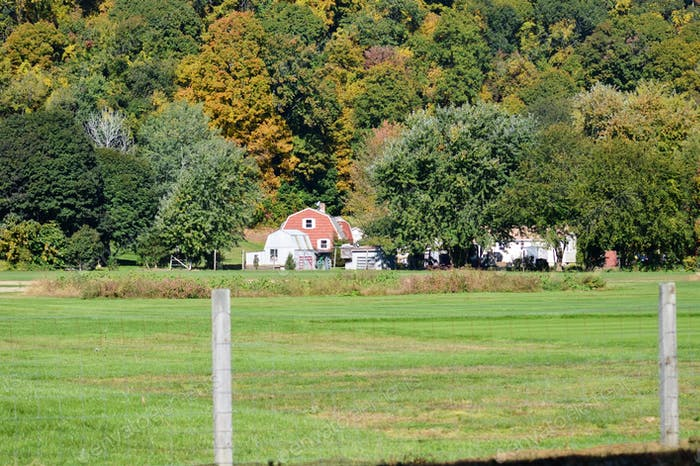 A countryside farm in New England.  Countryside.