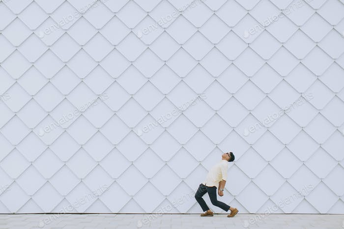 Weißen Wand-Emotion