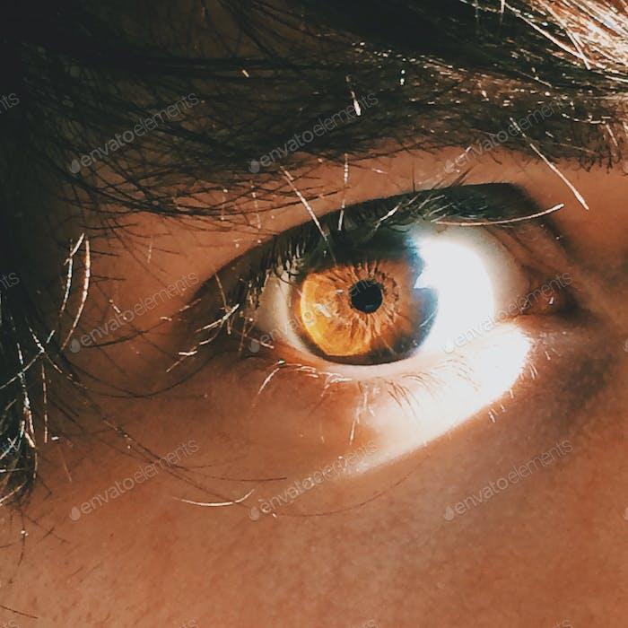 One of my eyes.