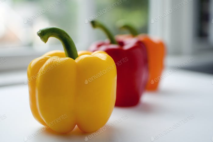 Peppers on a Windowsill