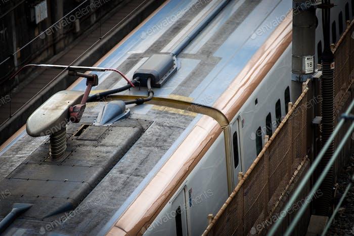 High Tech Bullet Train in Japan