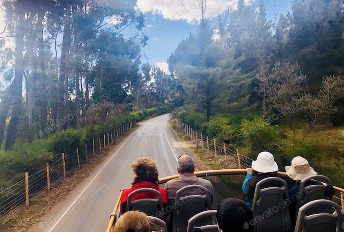 NOMINATED😇  Tourist bus exploring Cusco, Peru