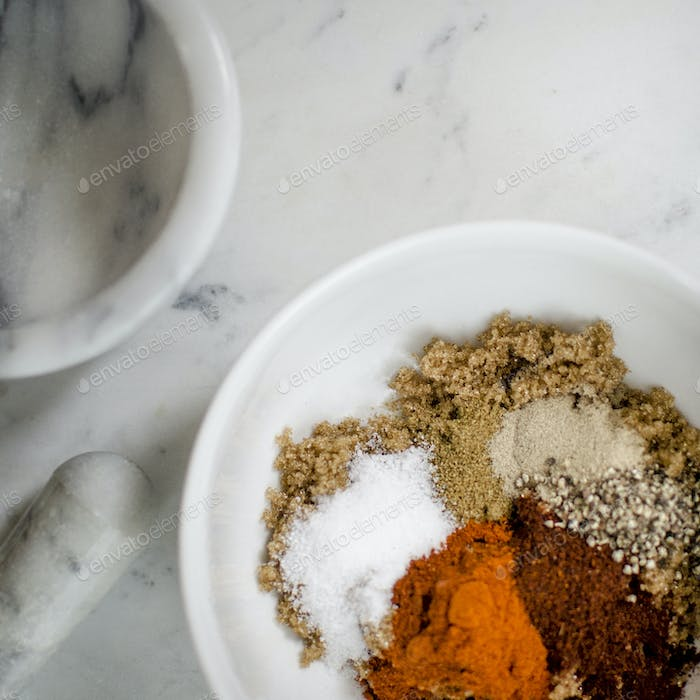 Spices for a dry rub