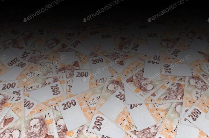 Jan Amos Komensky portrait from Czech money 200 Czech Korun bank note