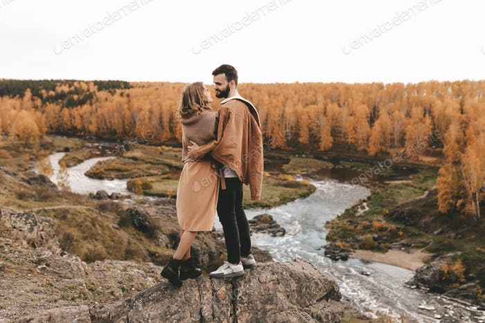 Couple, family, travel, Hiking, nature, Weekend, Love, Autumn, Forest, Landscape, View, local travel