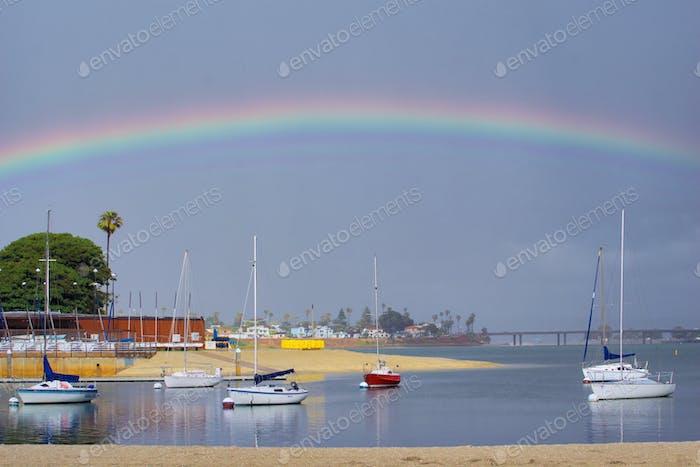 NOMINATED Beautiful rainbow over Mission Bay. tonythetigersson, Tony Andrews Photography