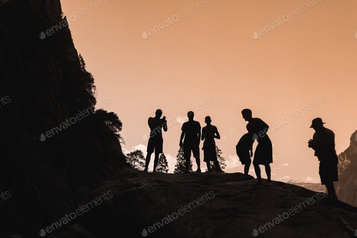 Silhouettes on silhouettes